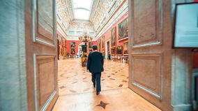 Large Italian Skylight Room at State Hermitage stock footage