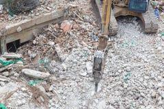 Large jackhammer machine Royalty Free Stock Images