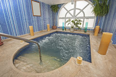 Large jacuzzi in a health spa Royalty Free Stock Photos
