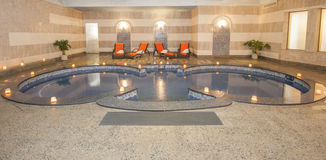 Large jacuzzi in a health spa Stock Photo