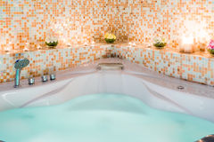 Large Jacuzzi with water Stock Photos