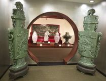 Large Jade Chinese Statues at the Belz Museum Royalty Free Stock Images