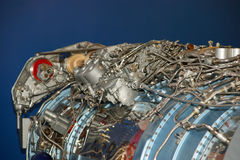 Large jet engine detail Royalty Free Stock Photos