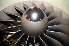 Large jet engine turbine blades Stock Image