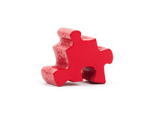 Large jigsaw puzzle piece stock photos