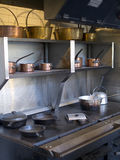 Large kitchen iron stove from 19'th century Royalty Free Stock Photos