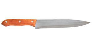 Large kitchen knife Stock Image