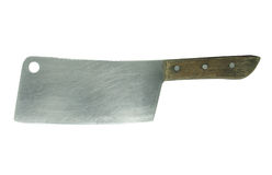 A large kitchen knife on a white Stock Image