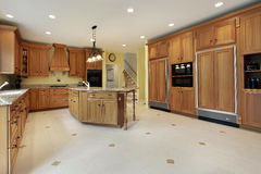 Large kitchen in luxury home royalty free stock photo