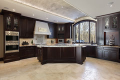 Large kitchen in luxury home Stock Photography