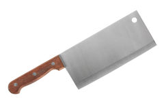 Large knife. With wooden handle and a wide blade Royalty Free Stock Images