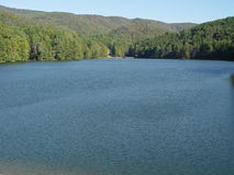 Large lake. A scenic Lake in the north Georgia mountains stock photo