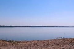 Large lake shore Royalty Free Stock Images