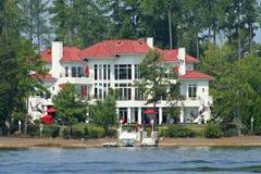 Large Lake House. Large California style lake house royalty free stock images