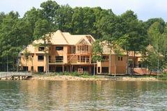 Large Lake House. Under construction royalty free stock image