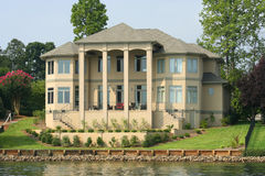 Large Lake House. With columns royalty free stock photos