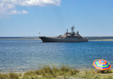 Large landing ship Royalty Free Stock Photography
