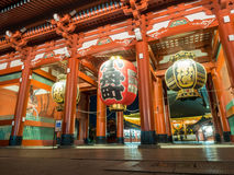 Large lantern in front of Sensoji temple in Tokyo Stock Photo