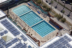 Lap Pool. Large lap pool from above in Tempe, Arizona Stock Photo
