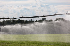 Large Lateral Move Irrigation System Stock Photography