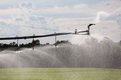 Large Lateral Move Irrigation System Royalty Free Stock Images