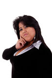 Large  latin woman Royalty Free Stock Photos