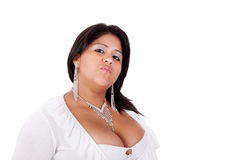 Large  latin woman angry Royalty Free Stock Photo
