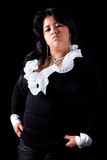 Large  latin woman angry Stock Photography