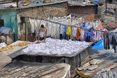 Large laundry Mumbai Stock Photography