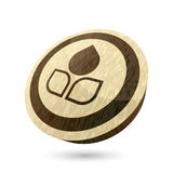 Large leaf button Royalty Free Stock Photo