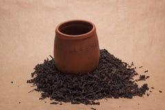 Large leaf tea Stock Image
