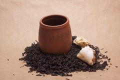 Large leaf tea Royalty Free Stock Image