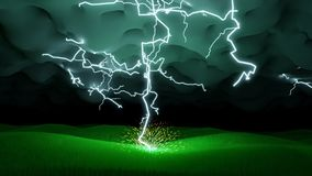 Large lightning bolt vector illustration