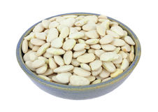 Large lima beans in bowl Stock Photography