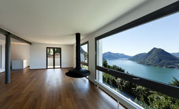 Panoramic Modern Window With A Lake Landscape Stock Illustration Image 32382165