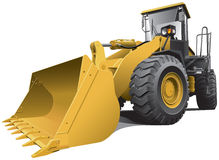 Large loader. Detailed vectorial image of light-brown large loader, isolated on white background. Contains gradients. Easily edit: file is divided into logical Stock Photos