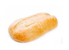Large loaf of bread isolated on white Royalty Free Stock Photos