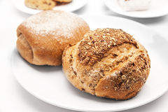 Large loaf of breads on white background. Stock Image