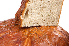 Large loaf of european rye bread Royalty Free Stock Image