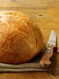 Large loaf of homemade bread Royalty Free Stock Photos