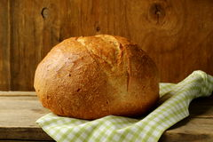 Large loaf of homemade bread Stock Photography
