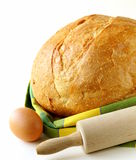 Large loaf of homemade bread Stock Image