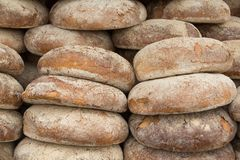 Large loaves of bread in a bakery Stock Photography