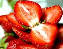 Large lobules ripe strawberry. Large lobules of fresh ripe strawberry royalty free stock images