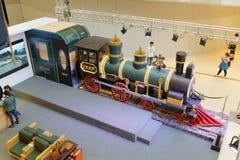 Large locomotive model Stock Images