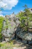 Large lofty stones Skeli Dovbusha, Ukraine Stock Image