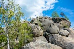 Large lofty stones Skeli Dovbusha, Ukraine Royalty Free Stock Images