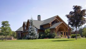Large Log Cabin Home Royalty Free Stock Photography