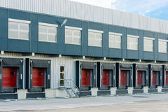Large logistic warehouse Stock Images