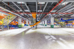 China logistics automatic sorting system. A large logistics warehouse public space, Jiangsu, China royalty free stock image